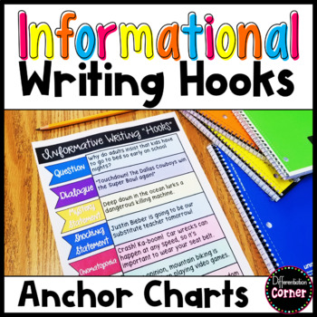 "Informational Writing ""Hooks"" poster anchor chart"