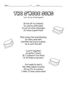 Informational Writing- How To Make a S'more