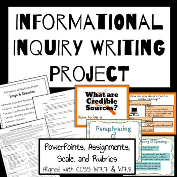 Informational Writing Inquiry Project