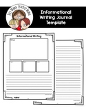 Informational Writing Journal Template DISTANCE LEARNING