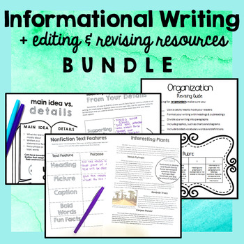 Informational Writing Complete Unit PLUS Editing and Revising Bundle