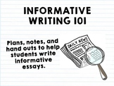 Informational Writing Mini Package