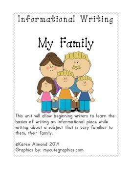 Informational Writing:  My Family