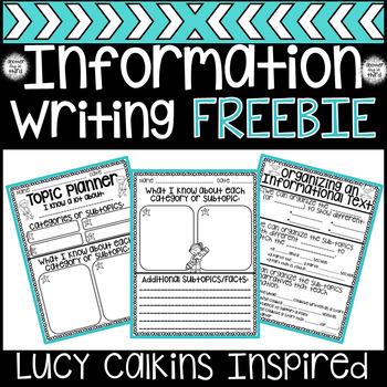 Informational Writing Organization FREEBIE