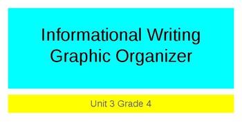 Informational Writing Organizer