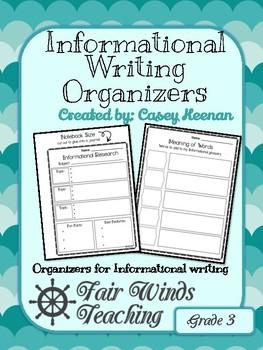Informational Writing Organizers