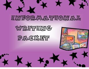 Informational Writing Packet (leveled)