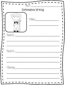 Informational Writing Pages