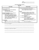 Informational Writing - Peer Editing Checklist (With Sentence Frames)
