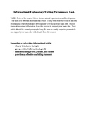 Informational Writing Performance Task Using 2 Sources