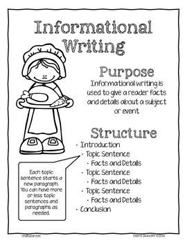 Pilgrim Writing Informational
