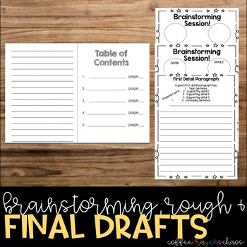 Informational Writing Planning Packet and Booklet