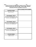 Informational Writing (Multiple Texts)