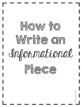 Informational Writing Process