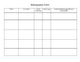 Blank Bibliography Chart
