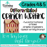 Tiny Homes Text Based Opinion Writing Prompt