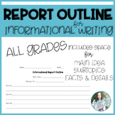Informational Writing Report Outline