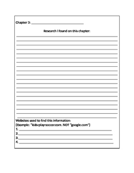 Informational Writing Research Packet