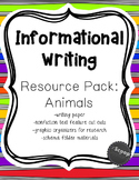 Informational Writing Resource Pack: Animals