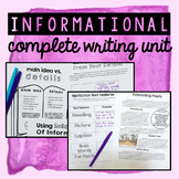 Informational Writing - COMPLETE UNIT for Writer's Workshop