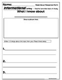 Informational Writing Response Form