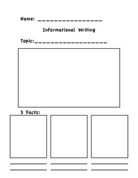 Informational Writing Response Sheet