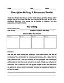 Descriptive Writing: Restaurant Review