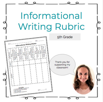 Informational Writing Rubric (Aligned to the Common Core State Standards)