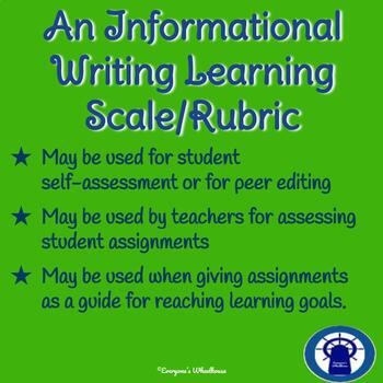 Informational Writing Rubric/Learning Scale