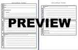 Informational Writing Skeleton Outline Organizer