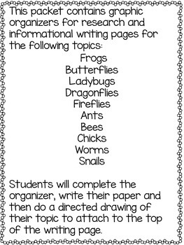Informational Writing Spring Pages
