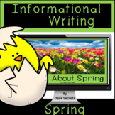 Informational Writing Spring for Use with Google Slides™ with PDF