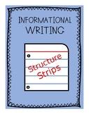 Informational Writing Editing Strips
