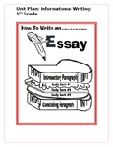 Informational Writing Teacher's College    5th Grade Unit Plan
