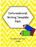 Informational Writing Template Pack