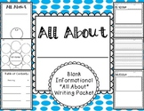Informational Writing Template Packet {All About Books}