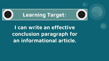 Informational Writing - Three Easy Steps to Writing a Conclusion Paragraph