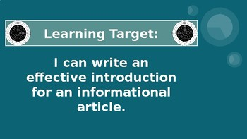 Informational Writing - Three Easy Steps to Writing an Introduction Paragraph