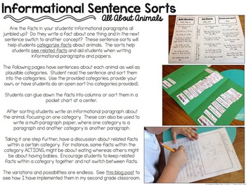 Informational Writing Tools {All About Animals}