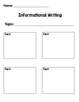 Informational Writing Tools