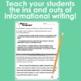 Informational Writing Unit