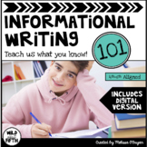 Informational Writing Unit - Distance Learning