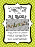 Informational Writing Unit - All About Animals
