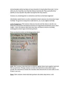 Informational Writing Unit/China/Social Studies/Lesson Plans TC format