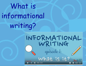 Informational Writing Unit Flipchart