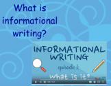 Informational Writing Unit Flipchart