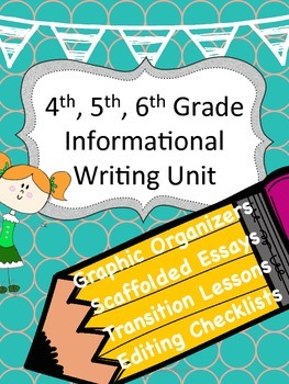 Informational Writing Unit, Scaffolded 5 paragraph essays