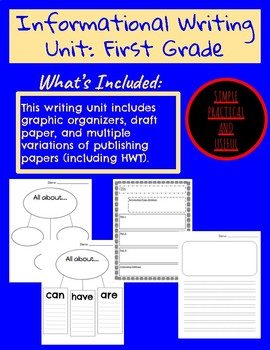 Informational Writing Unit with lots of options
