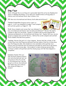 Informational Writing Unit with the Georgia Heroes