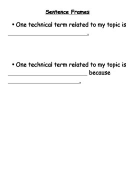 Informational Writing Lesson - Using Technical Terms (Lucy Calkins Aligned)